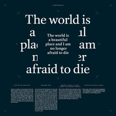 The World Is A Beautiful Place #design #graphic #cover #lp #typography