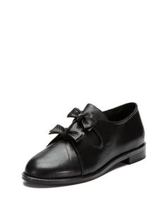 F Troupe Bow Shoe #fashion #shoe #black