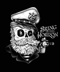 www.behance.net/michelemarconi #white #sailor #beard #fish #black #illustration #vintage #pipe #and #skull #pirate #hold