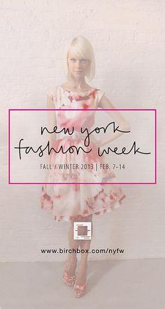 Birchbox New York Fashion Week #script #pink #fa #birchbox #promo #nyfw #typography