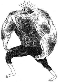 Portfolio - Three : Josh Holinaty #hairy #drawing
