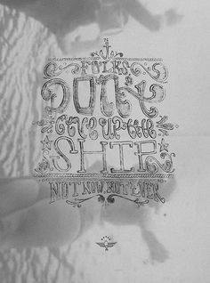 Don't give up the ship #water #design #illustration #sailors #drawn #type #hand #typography