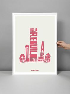 Prints and Posters / Haiti Poster Project #Poster #Typography #Haiti