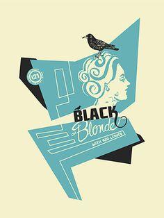GigPosters.com - Black On Blonde