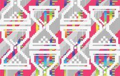 Alain Vonck's pixelated Wallpaper « Beautiful/Decay Artist & Design