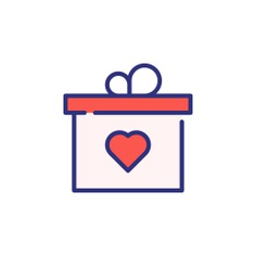 See more icon inspiration related to gift, present, love and romance, miscellaneous, gift box, package, heart, love and box on Flaticon.