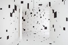 • SINGULAR FORMS #white #black #square #art #room