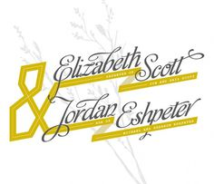 Liz & Jordan - Zach Bulick Design & Illustration #invite #wedding