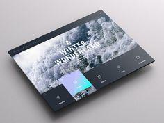 Weather Dashboard // Global Outlook UI/UX on Behance #ipad #app #weather
