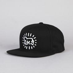 Flatspot Obey Keith Haring Baby Snapback Cap Black