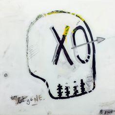 gone gino belassen – skull / contemporary painting