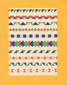 Pattern / Shapes #pattern #print #design #graphic #book #shapes #vintage