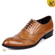 Mens Brown Wingtip Dress Shoes CW764076 #wingtip #dress #shoes