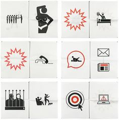 Creative Review - England's Burning #pictogram #icon #design #graphic #illustration