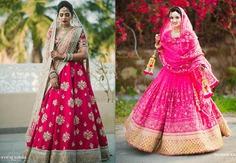 dark pink bridal lehenga