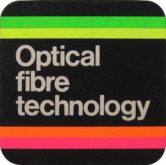 British Telecom Optical Fibre Technology Beer Mat #british #telecom #optical #fibre #print #design #graphic #technology