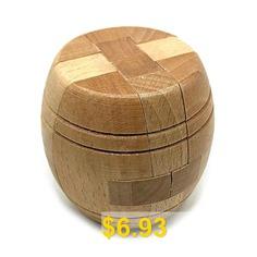 Classical #Design #Craft #Cylindrical #Lock #Building #Blocks #- #BROWN #SUGAR