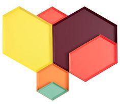 Kaleido Trays by Clara von Zweigbergk for HAY #color #trays