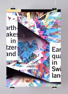 Earthquakes « FEIXEN: Design by Felix Pfäffli #design #graphic #poster #typography