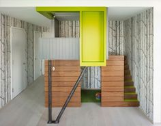 Kids play house in artistic apartment