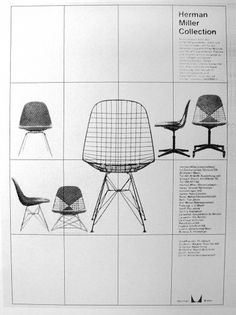 poster #graphic design #poster #grid #herman miller #chair
