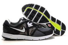 Nike LunarGlide+ 3 Running Shoe Black White Mens