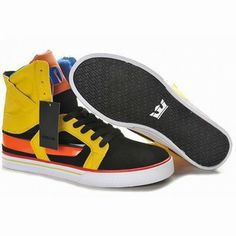 supra skytop 2 tuf black yellow red high tops sneakers #fashion