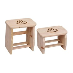 Traditionally used in Japanese onsens and hot springs, this lightweight bath stool is made from Japanese Cypress (hinoki) and is a great addition to household bathrooms or showers. Hinoki is famous for its rejuvenating woodsy scent that gets more aromatic in the presence of water and quick-drying properties that make it ideal for use in the bathroom. Made in Japan.