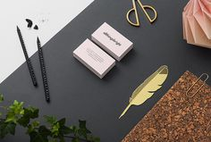 allthingsbright by Louise Jansson #business #cards #desk