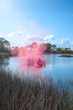 Colorful Smoke in European Landscapes