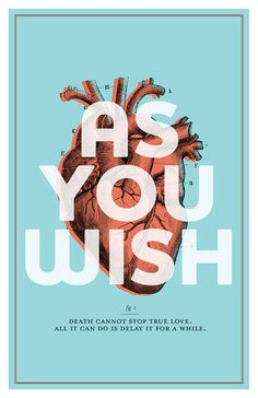 The Princess Bride As You Wish Poster #illustration #poster