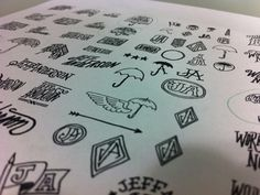 Dribbble - Anderson by Brandon Rike #doodles #logos