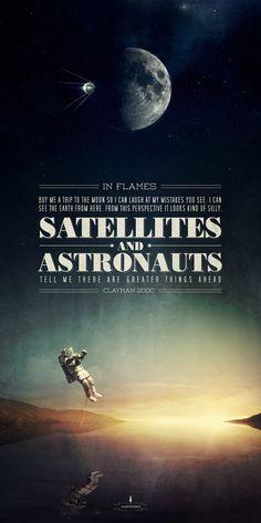 in flames satellites big #astronautes