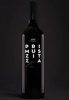 Primus Zitsa - grab.the.eye | design & visual communication #packaging #wine #typography