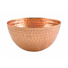 Beaten Copper Round Bowl , 20cm x 10cm