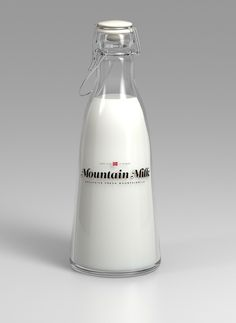 Tine Melk Mountain Milk on the Behance Network #milk