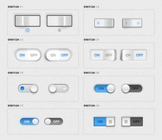 Toggle switches pack Free Psd. See more inspiration related to Design, Mobile, Web, Web design, App, Mobile app, Switch, Interface, Pack, Set, Horizontal, Toggle, Switches and Packs on Freepik.