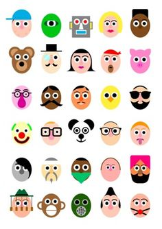Faces - stephen cheetham #graphic #colours #faces #icons #illustration