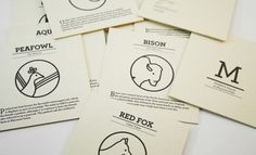 maymont park exhibit icons : corey hall #packaging #marks #print #icons #park #cards #typography