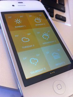 Su Sole - Weather Mobile App UI Design