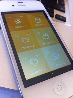 Su Sole - Weather Mobile App UI Design