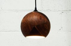 Dark + Stormy, Walnut Pendant Light #interior #walnut #accessories #ligthing #design #decor #home #wood #minimalist