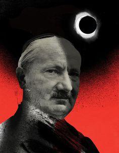 Emmanuel Polanco / For Philosophie magazine / Colagene.com #philosophy #philosopher #man #collage #illustration #vinatge #moon #sky #sun #re