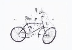 by Señor Real #draw #bicycle #broken