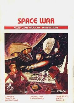 Atari - Space War | Flickr - Photo Sharing! #games #video #illustration #manual #booklet