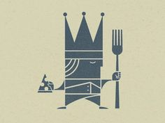 Dribbble - King's Pizza by Scott Hill #logo