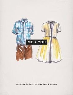 Me + You: Valentine's Day Cards » Everyguyed – Men's Fashion Advice and Style Tips #illustration