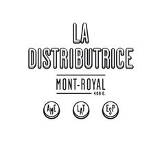 La Distributrice: Smallest cafe place in North America The Dieline #logo #design #graphic