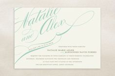 Winter Flourish Wedding Invitations by annie clark | Minted #wedding #lettering #invitation #print #hand #typography