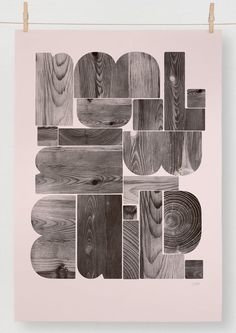 Build By Berg #type #woodtype #design #texture